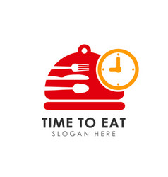 time to eat icon design eat time logo design vector image