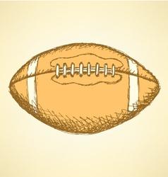 US Football Ball vector image