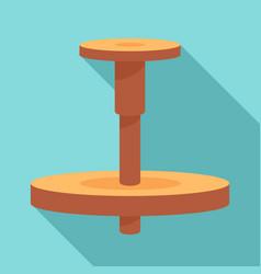 Wood potter wheel icon flat style vector