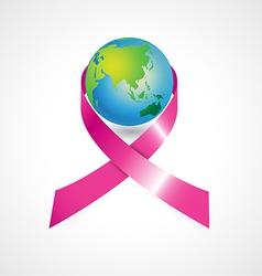 World cancer awareness ribbon vector
