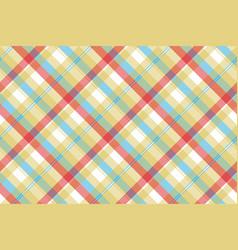 Yellow plaid tartan seamless pattern vector