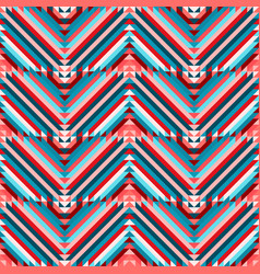 zigzag ethnic tribal seamless pattern vector image