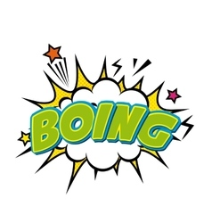 boing comic pop art style vector image vector image