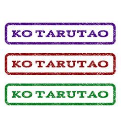 Ko tarutao watermark stamp vector