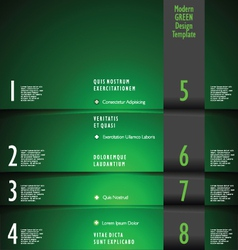 Modern GREEN Design Template vector image vector image