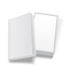white open empty rectangular cardboard box vector image