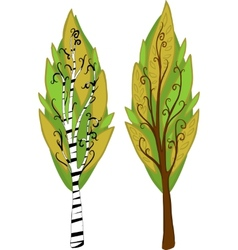 Cartoon Trees Isolated vector image vector image