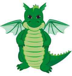 green funny dragon vector image