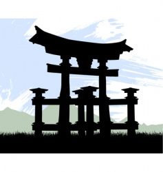 japan temple vector image vector image