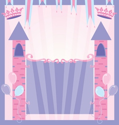 pretty princess party vector image vector image