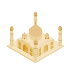 Taj mahal in india icon isometric 3d style vector