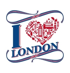 I love London vector image vector image