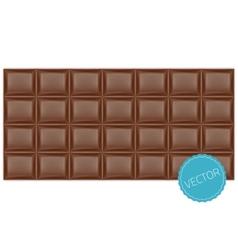Realistic chocolate bar vector