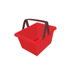 Red shopping basket icon cartoon style vector image vector image