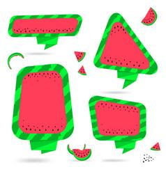 Watermelon summer bubble speech vector
