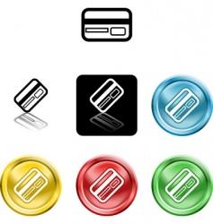 credit card icon symbol vector image vector image