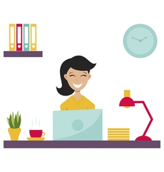 girl in office vector image