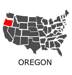 oregon state on usa map vector image