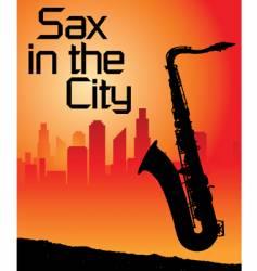 sax city vector image