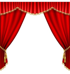 ter stage with red curtain isolated on white vector image vector image