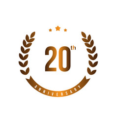 20 th anniversary template design vector