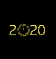 2020 golden text vector image
