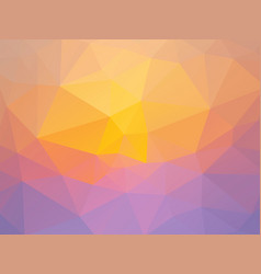 abstract pink yellow triangles background vector image
