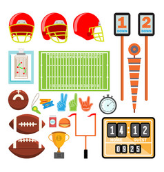 American football icons set american vector