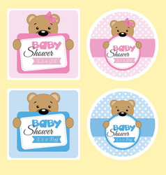 baby shower labels vector image vector image