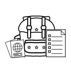 Baggage with passport vector
