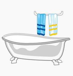 bathroom and towel vector image