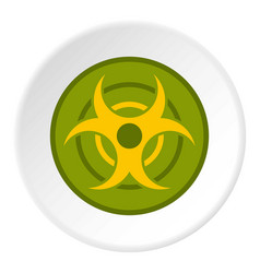 Biohazard symbol icon circle vector