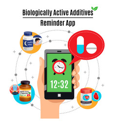 Biological active additives design concept vector