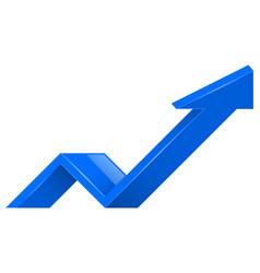 blue arrow 3d up icon vector image