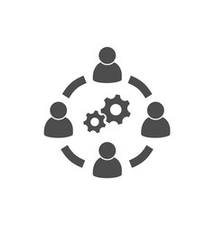 business collaborate icon image vector image