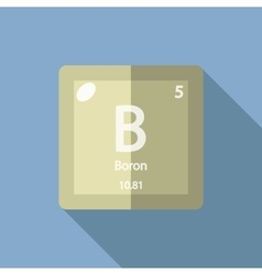 Chemical element Boron Flat vector image