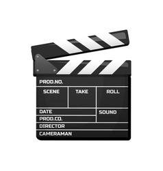 Clapperboard for movie vintage cinema vector