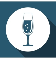 Cocktail design over white background vector