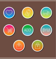 colorful website online shop web buttons design vector image
