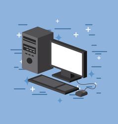 Computer image flat vector