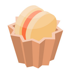 cupcake biscuit icon isometric style vector image
