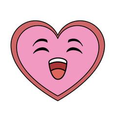 cute heart kawaii character vector image