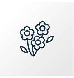 daisy icon line symbol premium quality isolated vector image
