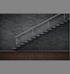 dark brick wall and prison or loft interior vector image