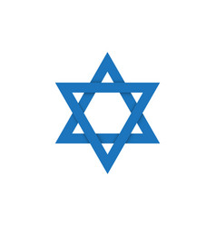 david star on israel flag symbol vector image