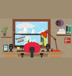 designer-workspace vector image