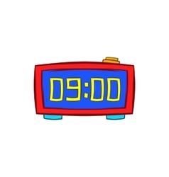 Digital table clock icon cartoon style vector