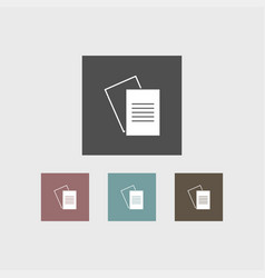 Document icon simple vector