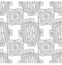 Doodle seamless pattern for coloring book black vector