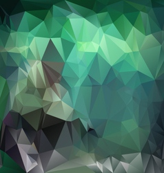 Emerald green polygonal triangular pattern vector